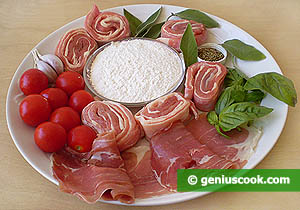Ingredients for Saltimbocca in Pizzaiolla Sauce