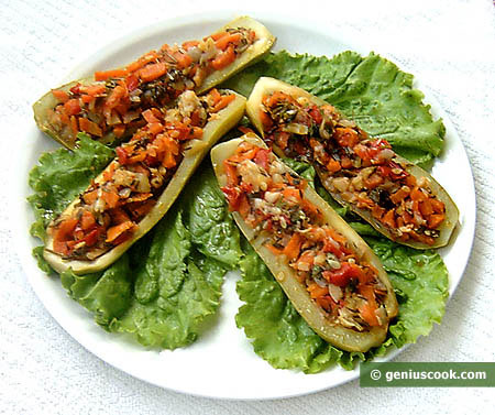 Marrow Stuffed with Vegetables