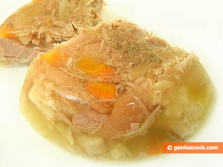 Piece of Russian-Style Aspic