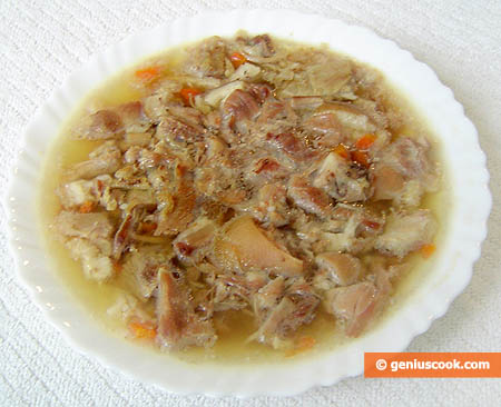 Russian-Style Aspic with Chopped Meat
