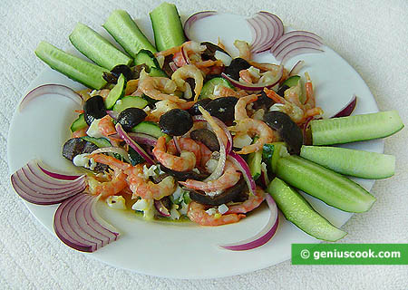 Shrimp Salad with Cucumbers