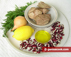 Ingredients for Bean Salad with Turkey Liver