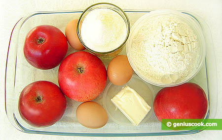 Ingredients for Charlotte Pie