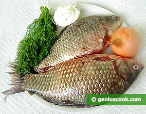 Ingredients for Crucian Carp Baked In Sour Cream