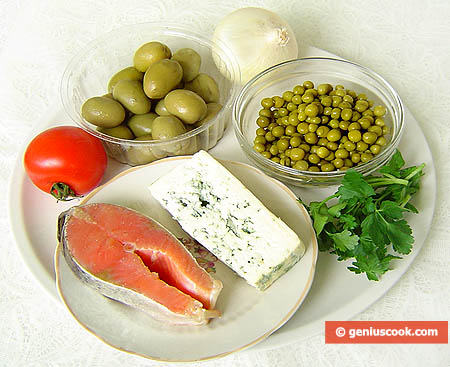 Ingredients for Dor Blue Cheese Appetizer with Trout