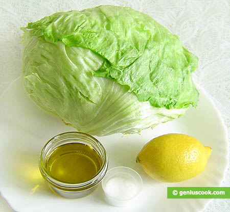 Ingredients for Iceberg Lettuce Salad