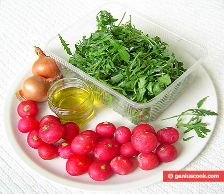 Ingredients for Radish and Arugula Salad