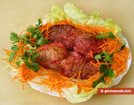 Pork Escalopes with Alchermes Liqueur