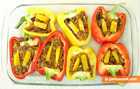 Raw Tuna Stuffed Bell Pepper