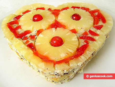 Valentine's Day Tiramisu Cake