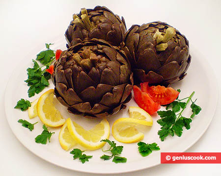 Boiled Stuffed Artichokes