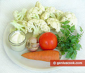 Ingredients for Cauliflower in Sour Cream Sauce