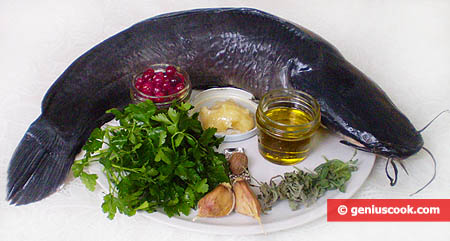 Ingredients for Sheatfish in Cranberry Sauce