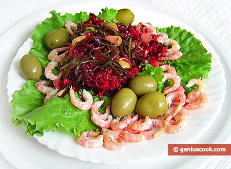 Laminaria Salad with Shrimp