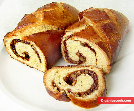 Walnut Filled Pastry Roll
