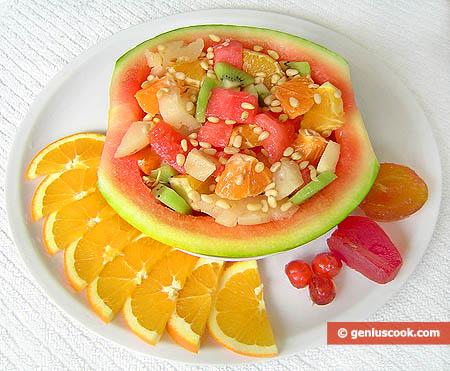 "Fruit Dessert ""Watermelon Shell Surprise"""