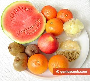 Ingredients for the Fruit Dessert