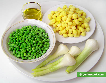 Ingredients for Gnoccetti with Green Peas