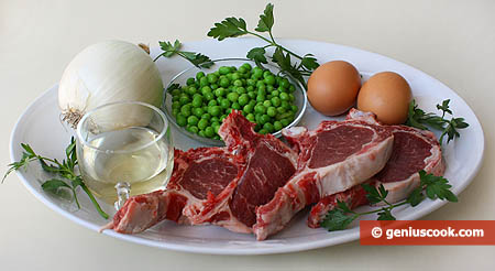 Ingredients for Lamb Fricassee