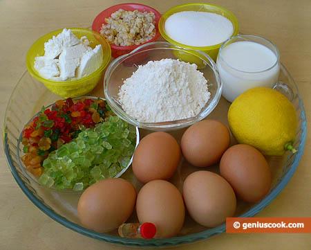 Ingredients for Pastiera Napoletana Easter Cake