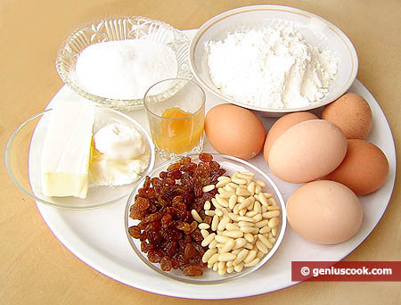 Ingredients for Russian Easter Pie