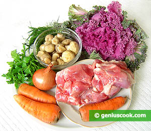 Ingredients for Turkey and Champignon Salad