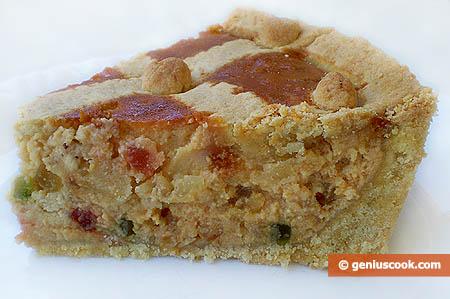 Piece of Pastiera Napoletana Easter Cake