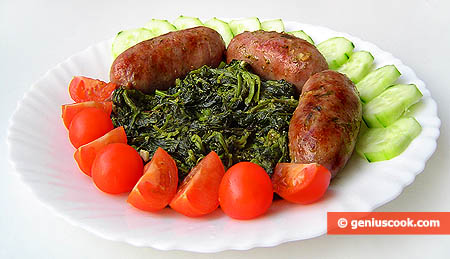 Sausages with Broccoli Rabe