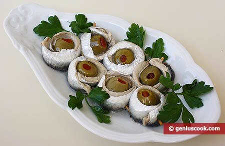 Anchovy and Olive Appetizer