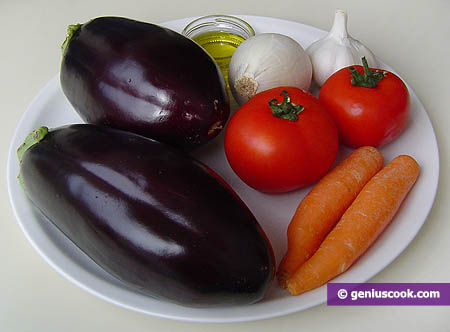 Ingredients for Eggplant Paste
