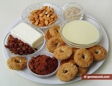Ingredients for Russian Sponge Cake