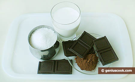 Ingredients for Chocolate Ice-Cream