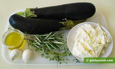 Ingredients for Eggplant Rolls with Cottage Cheese