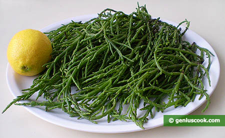 Ingredients for Sea Asparagus Salad