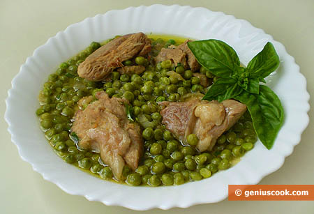 Stewed Turkey Leg with Peas and Spicy Herbs