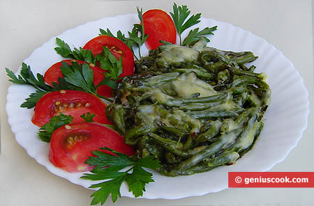 Green Runner Bean with Cheese
