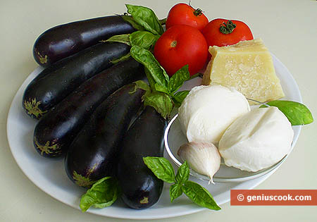 Ingredients for Eggplants with Parmesan Cheese