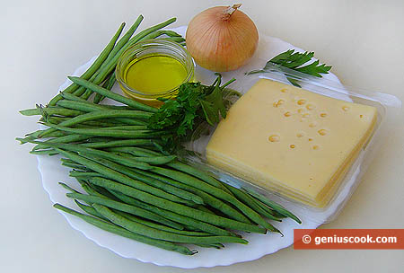 Ingredients for Green Runner Bean with Cheese