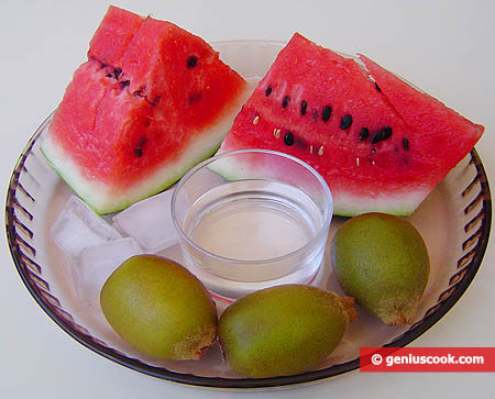 Ingredients for Kiwi and Watermelon Cold Fruit-Punch