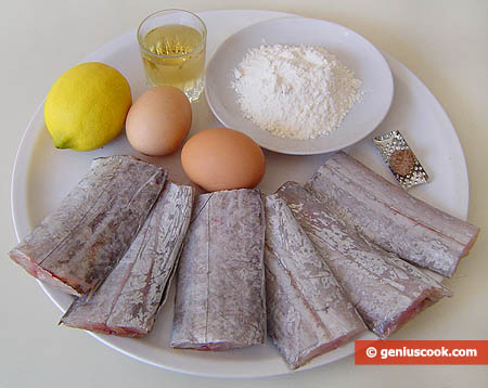 Ingredients for Scabbard Fish in Batter