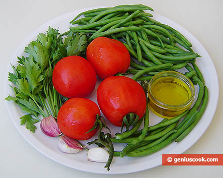 Ingredients for Yardlong Beans in Tomato Sauce