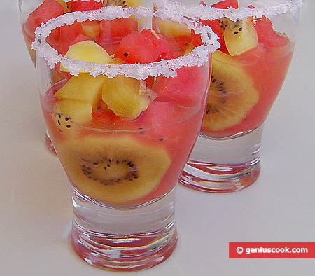 Kiwi and Watermelon Cold Fruit-Punch