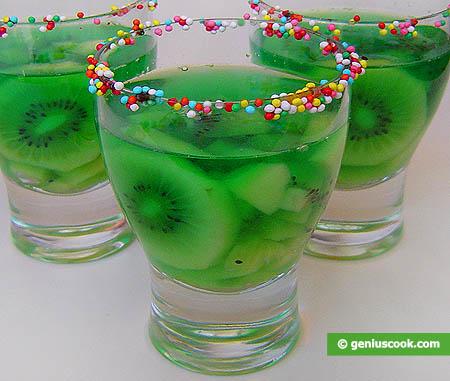 Mint Freshness - Cold Fruit-Punch with Kiwi