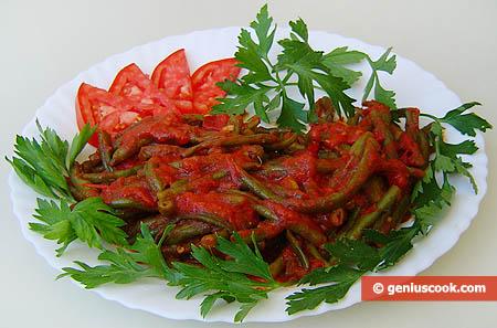 Yardlong Beans in Tomato Sauce