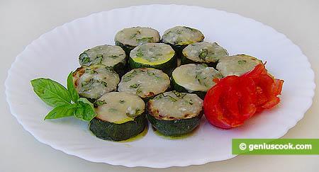 Zucchini with Gorgonzola Cheese