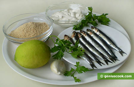 Ingredients for Baked Anchovies