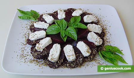 Appetizer with Goat Cheese and Beet