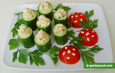 Cucumbers Stuffed with Tuna