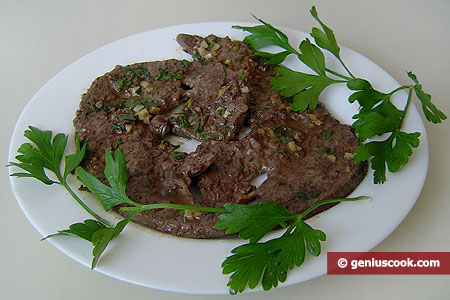 Beef Liver with Garlic and Parsley
