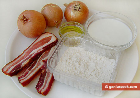 Ingredients for Flammkuchen